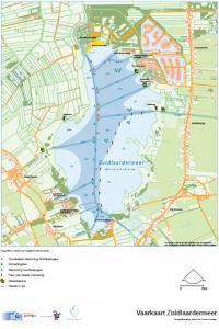 Vaartkaart Zuidlaardermeer